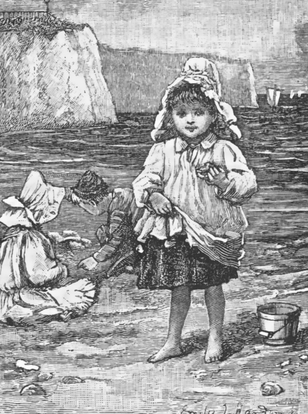 Victorian children on the beach