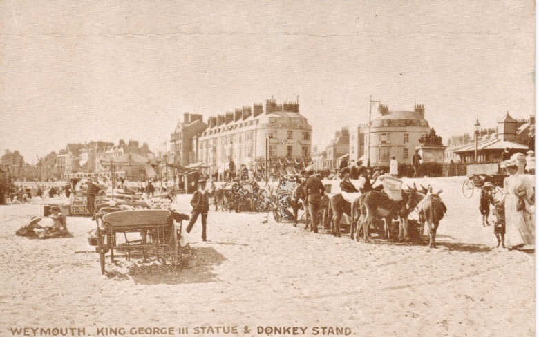 weymouth donkeys and beach
