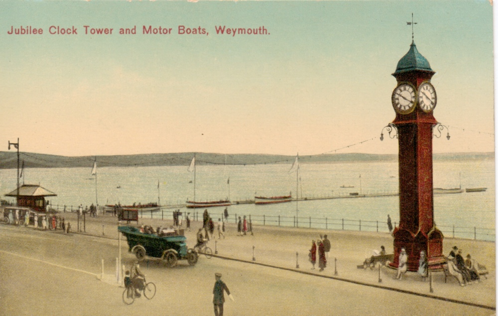 Weymouth Queen Victoria Jubilee clock in the 1920's