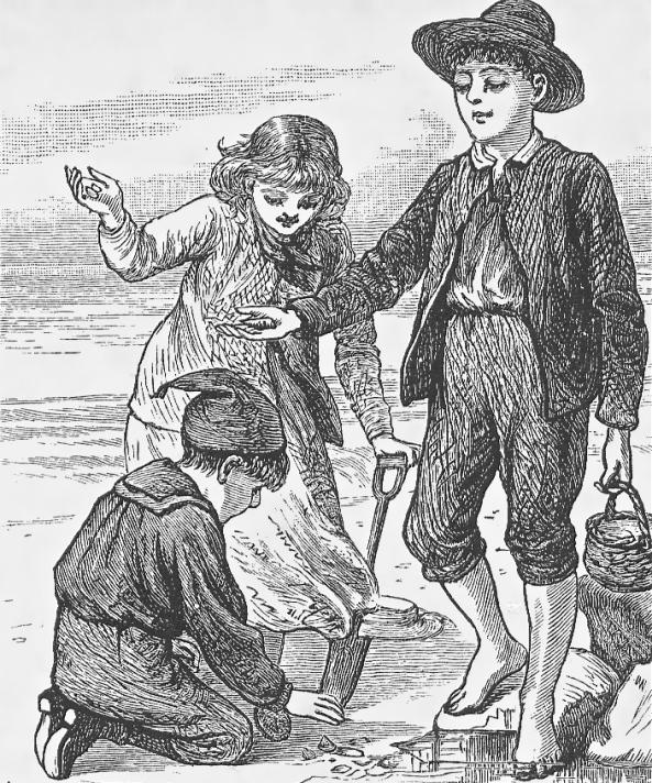 children buckets beach