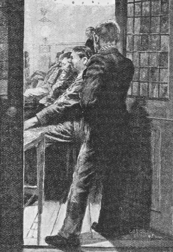 man looking in door quiver 1896