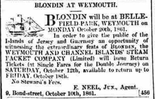 Weymouth steamship Blondin