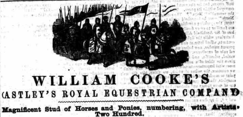 William Cooke's equestrian 1859