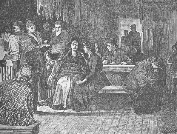 women in lodging house