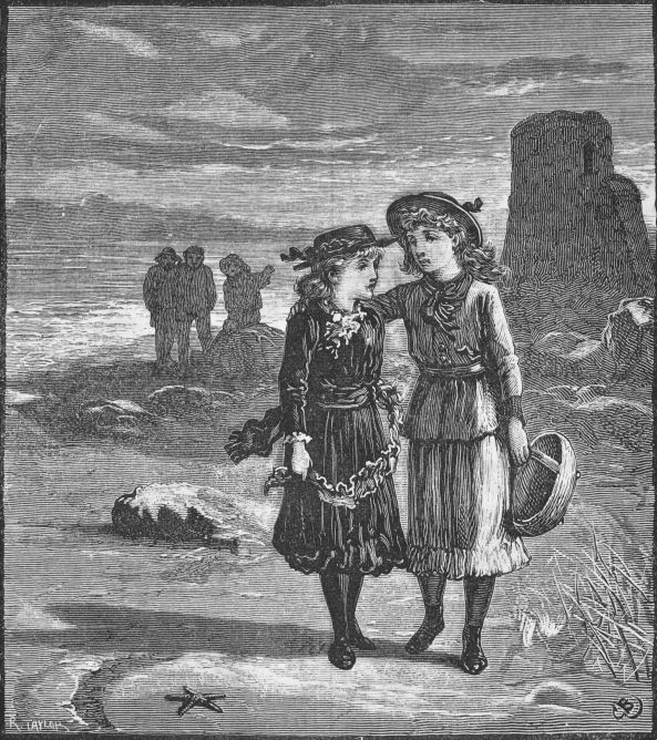 JUVENILE MAG 1889girls walking