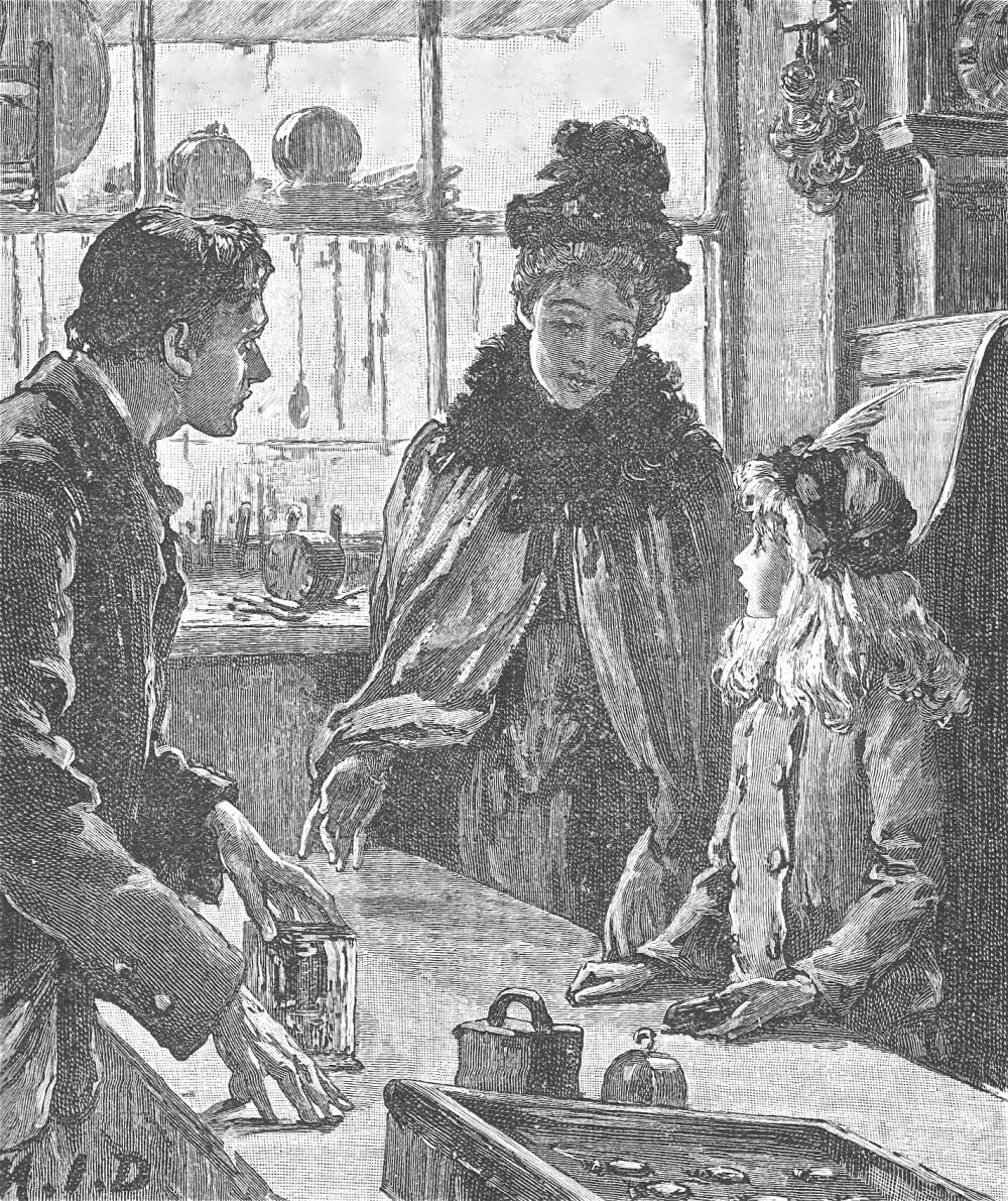 woman girl clock q 1892