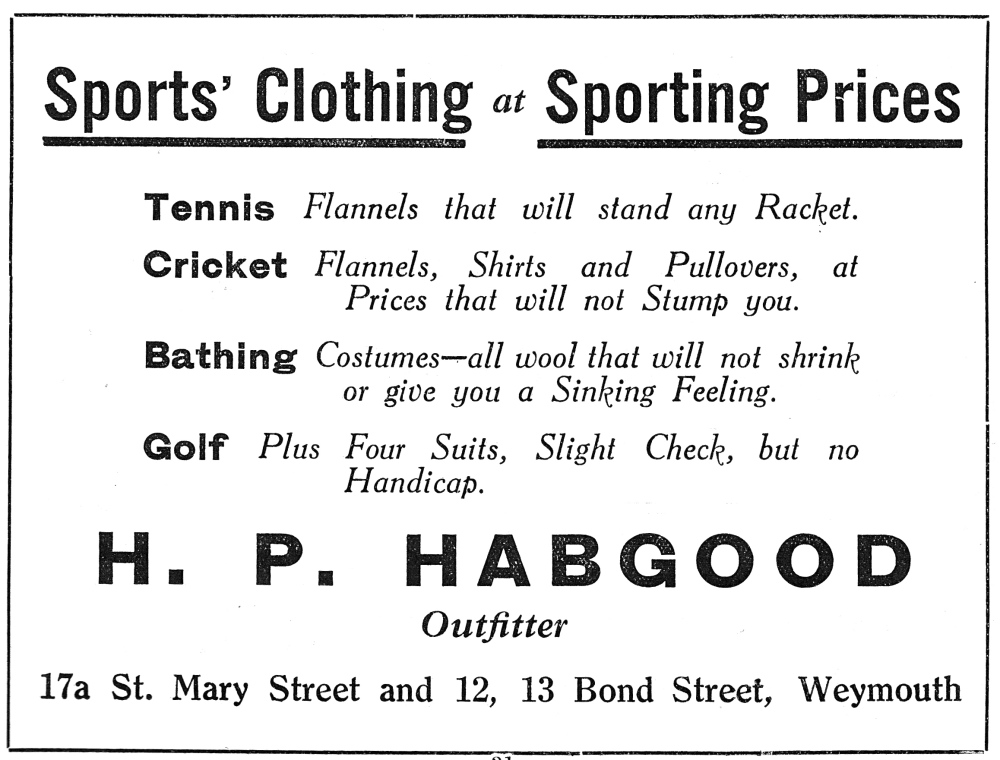 H P Hapgood sports clothing st mary st