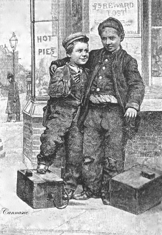 two shoe shine lads