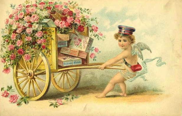 Victorian Valentines card