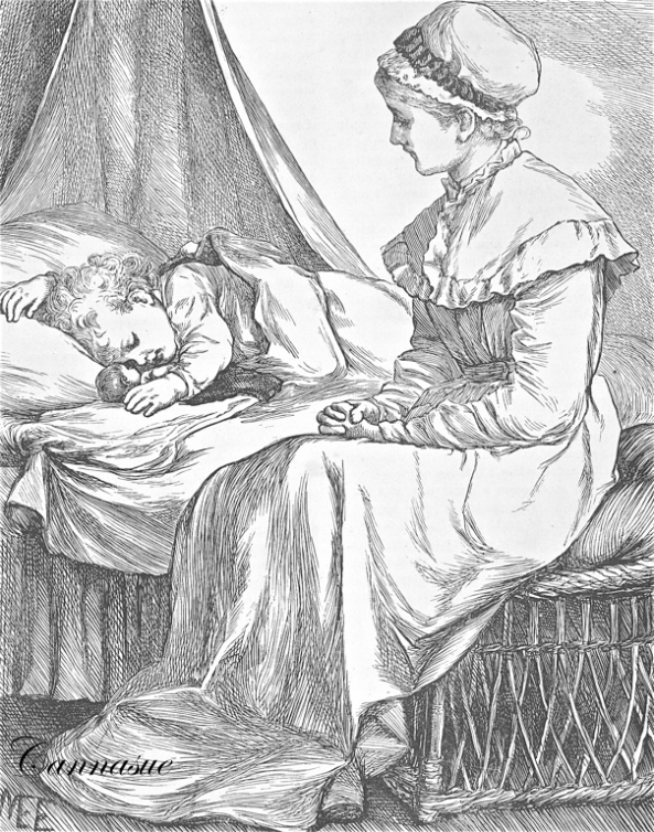 woman child sleeping