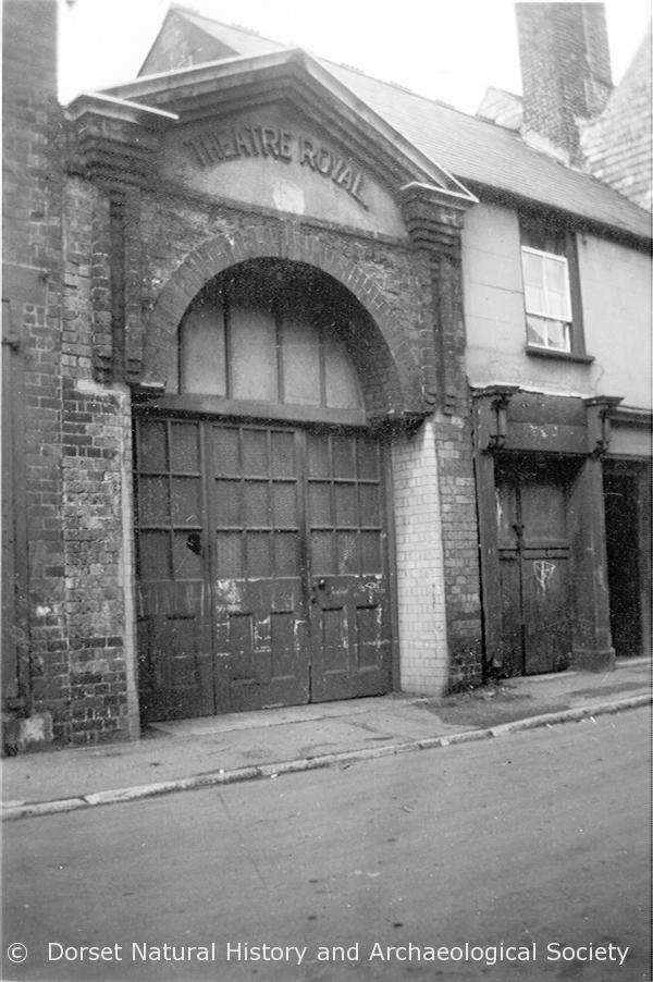 entrance to the old Theatre Royal Weymouth