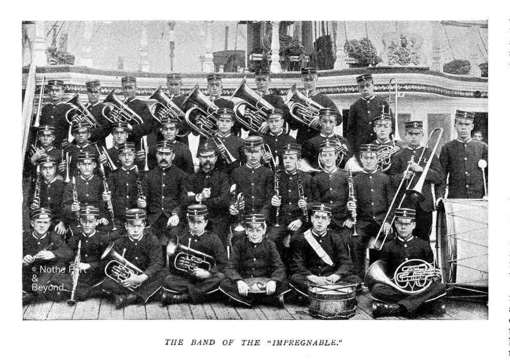 The naval band of the ship impregnable 1899 3