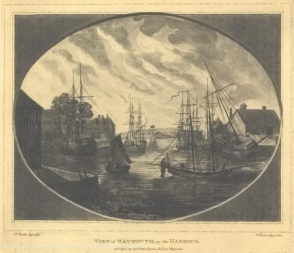18th century view Weymouth harbour CCO DCM